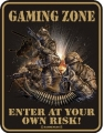 Funschild - GAMING ZONE - ENTER AT YOUR OWN RISK