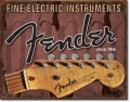 Blechschild - FENDER FINE ELECTRIC INSTRUMENTS