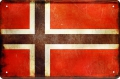 Rusty Blechschild -NORWEGEN