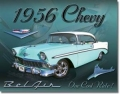 Nostalgie Blechschild - CHEVY BEL AIR 1956
