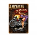 Blechschild - AMERICAN CLASSICS -BIKE AND BABE