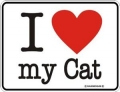 Funschild - I LOVE MY CAT