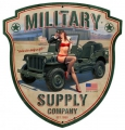 Blechschild - MILITARY SUPPLY COMP. - motivgeschnitten