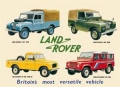 Nostalgie Blechschild - LAND ROVER COLLECTION