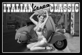 Blechschild - ITALIAN VESPA CLASSIC MIT PIN UP GIRL