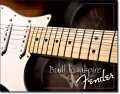 Blechschild - FENDER GUITAR - BUILT TO INSPIRE